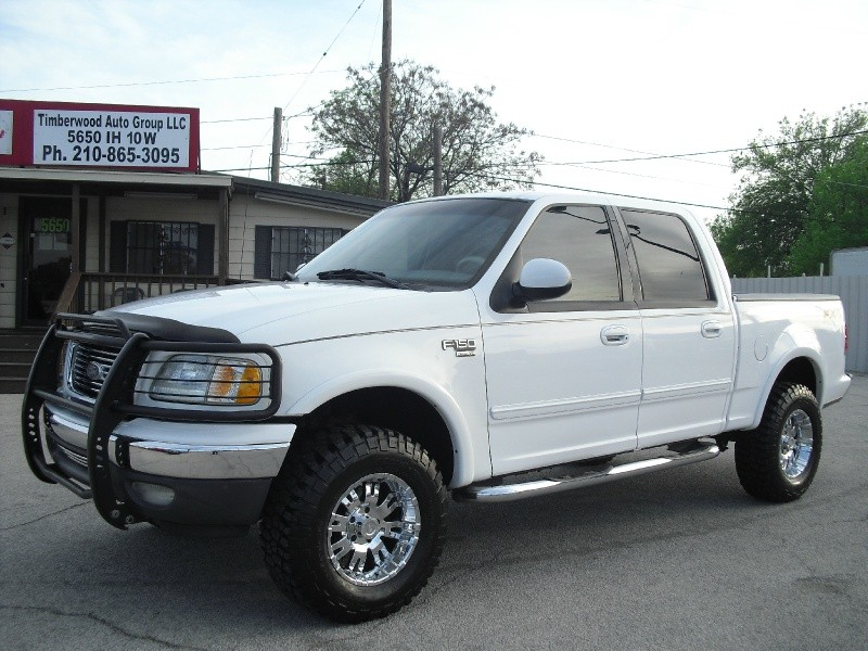 Auto Group Of San Antonio >> 2002 Ford F-150 SuperCrew Lariat 4WD -FX4-Lifted On 33s-Chrome Wheels - Inventory | TIMBERWOOD ...