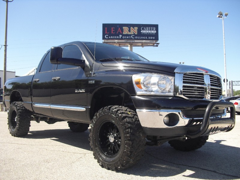 2008 Dodge Ram 1500 4wd Quad Cab Slt Big Black Jacked Up Truck