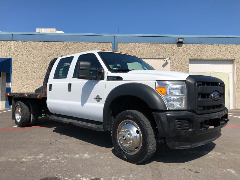 Ford F550 For Sale >> 2012 Ford F550 4x4 Dually Crew Cab Flat Bed 6 7l Diesel