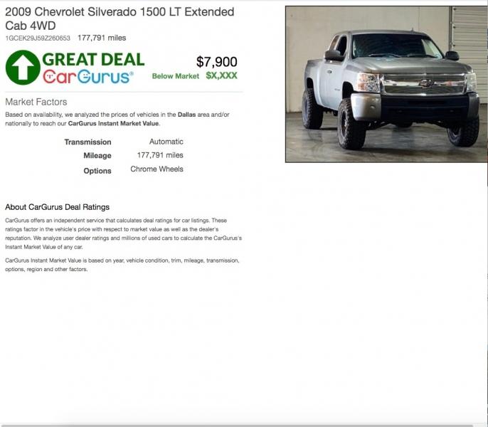Chevrolet Silverado 1500 2009 price $7,900