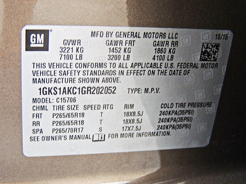 GMC Yukon 2016 price $32,850