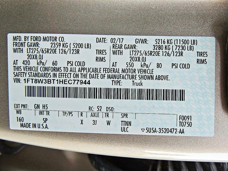 Ford Super Duty F-350 SRW 2017 price $58,900