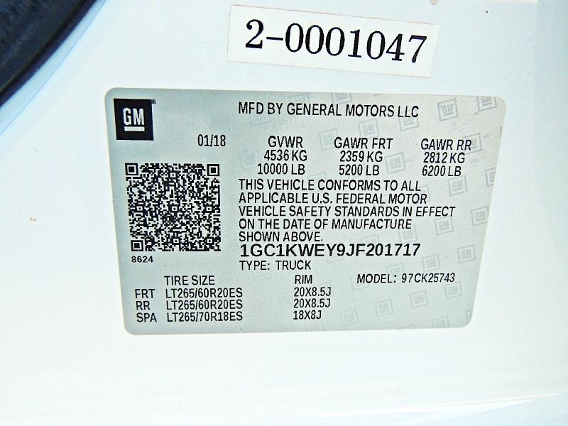 Chevrolet Silverado 2500HD 2018 price $53,900