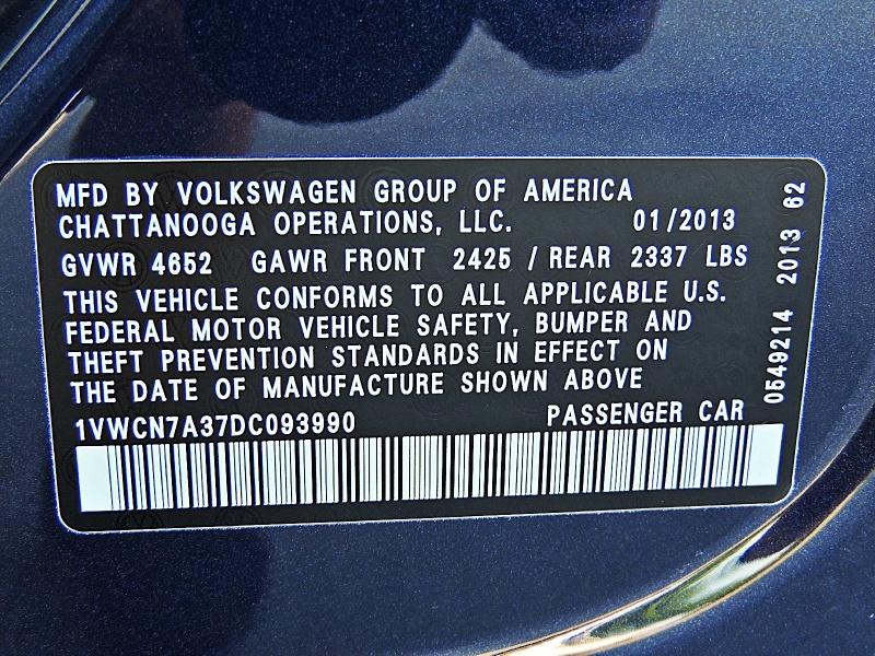 Volkswagen Passat 2013 price $10,450