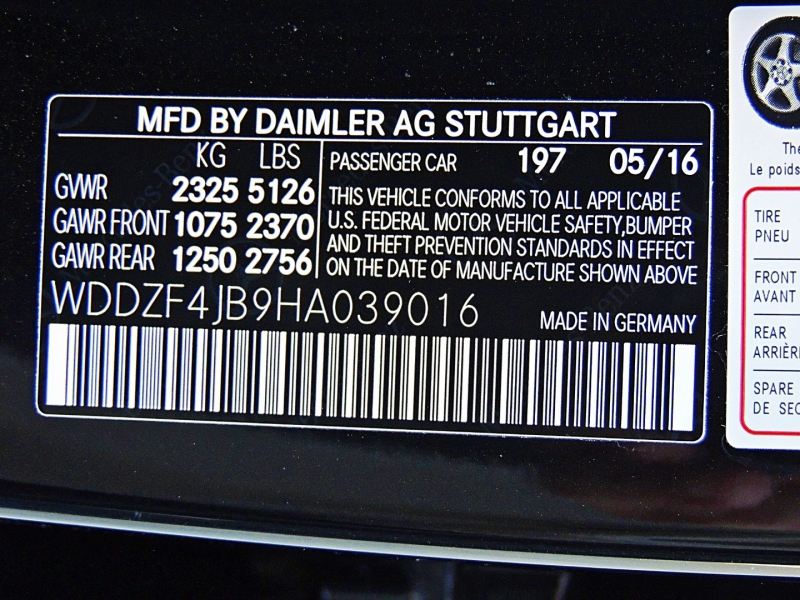 Mercedes-Benz E-Class 2017 price $30,900