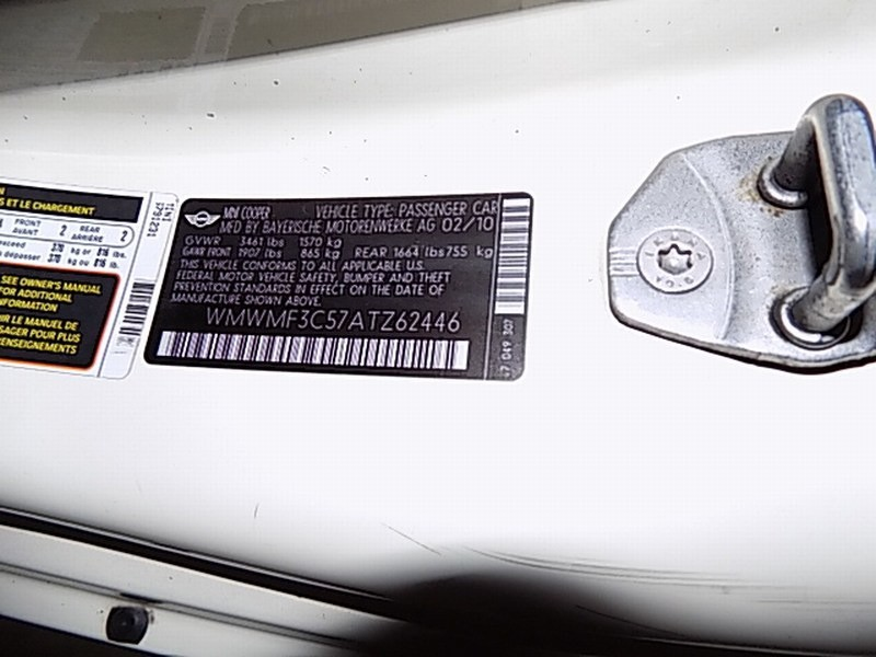 Mini Cooper Hardtop 2010 price $7,495 Cash
