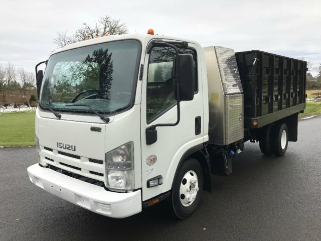 2011 Isuzu NPR HD New 12' Landscape Dump Body