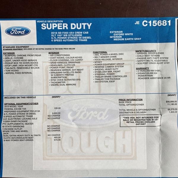 Ford Super Duty F-350 SRW 2018 price $48,950