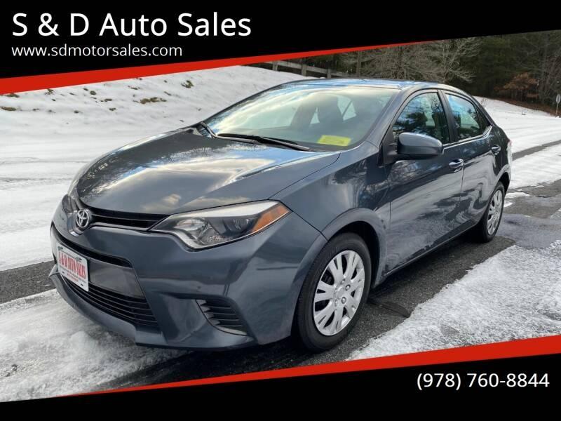 Toyota Corolla 2015 price $7,997
