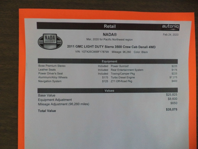 GMC Sierra 3500HD 2011 price $29,995
