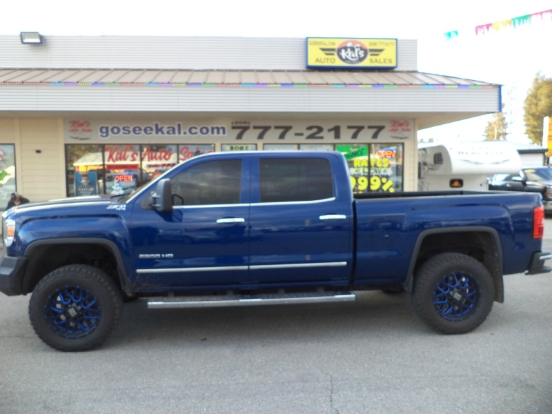 Design On Stock Blizz Bank.2015 Gmc Sierra 2500hd 4wd Crew Cab Duramax Slt Lifted Z71 Kal S