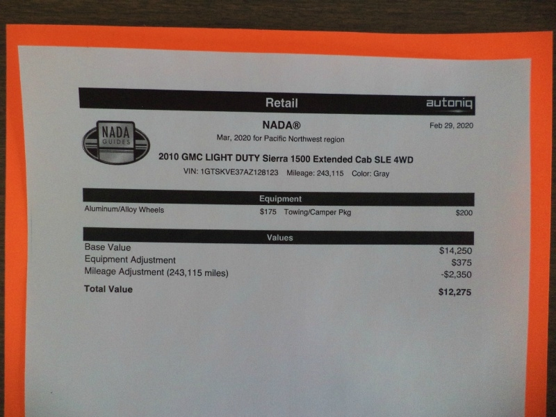 GMC Sierra 1500 2010 price $9,995