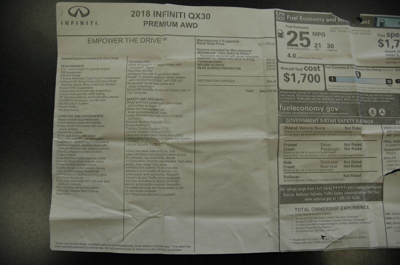 Infiniti QX30 2018 price $23,990