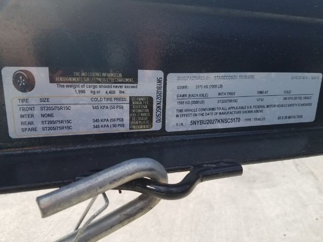 STAGECOACH BUMPER PULL 2019 price $3,285