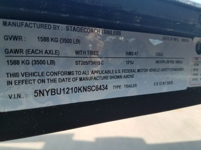 STAGECOACH 5X12 AT SA35 2019 price $1,471