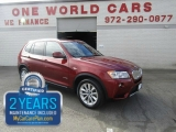 BMW X3 28i Nav Red Interior Comes with Warranty 2013