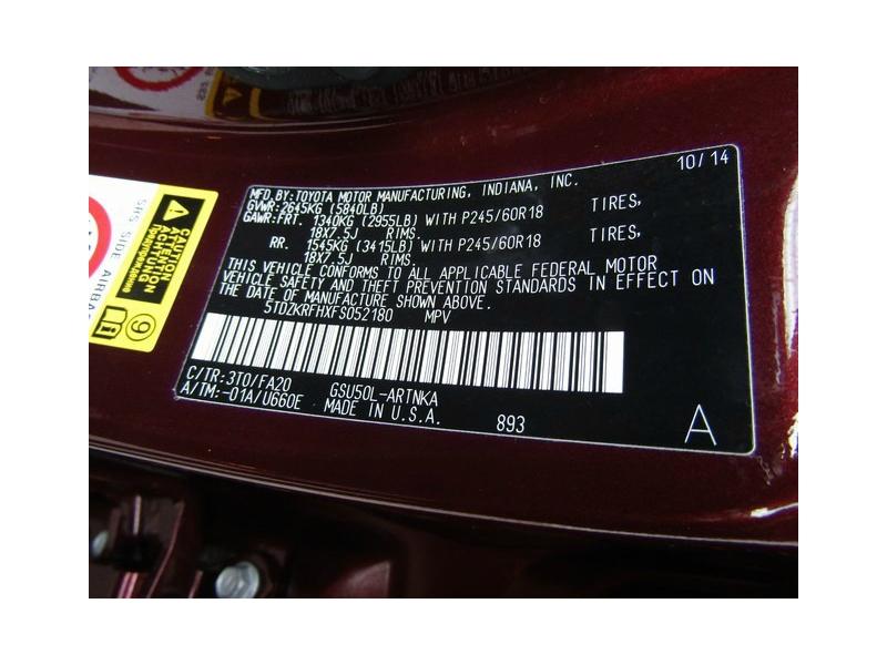 Toyota Highlander LE Plus 1-OwnerDVD 2015 price $19,777 Cash