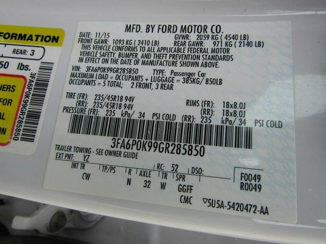 Ford Fusion Titanium leather B/UP Cam 2016 price $9,995 Cash