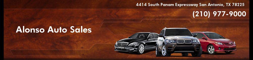 Alonso Auto Sales. (210) 977-9000