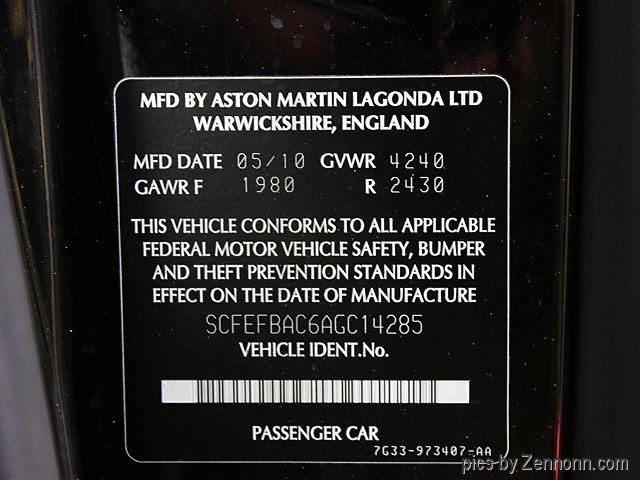 Aston Martin V8 Vantage 2010 price $48,990