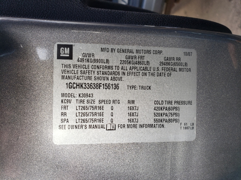 Chevrolet Silverado 3500HD 2008 price $17,495