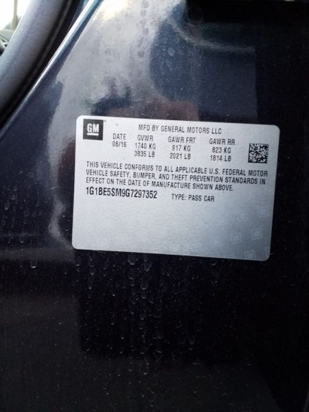 Chevrolet Cruze 2016 price $11,700