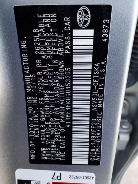 Toyota Camry 2016 price $15,895