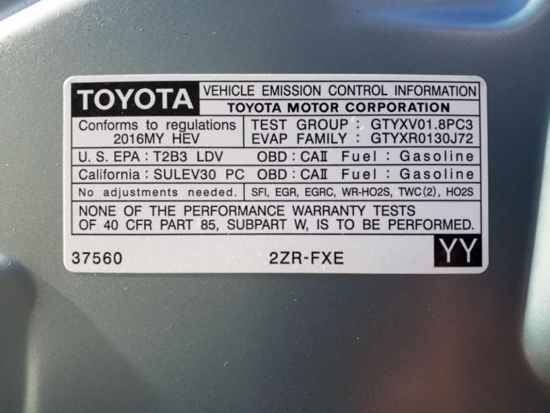 Toyota Prius 2016 price $18,295