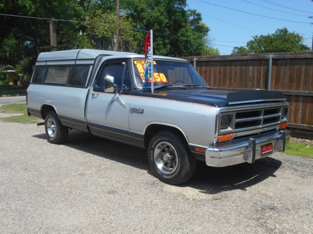 ONE OWNER 1987 DODGE RAM 1500 WITH CAMPER - Inventory | Trucks ...