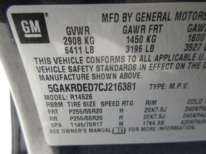 BUICK ENCLAVE 2012 price $11,999