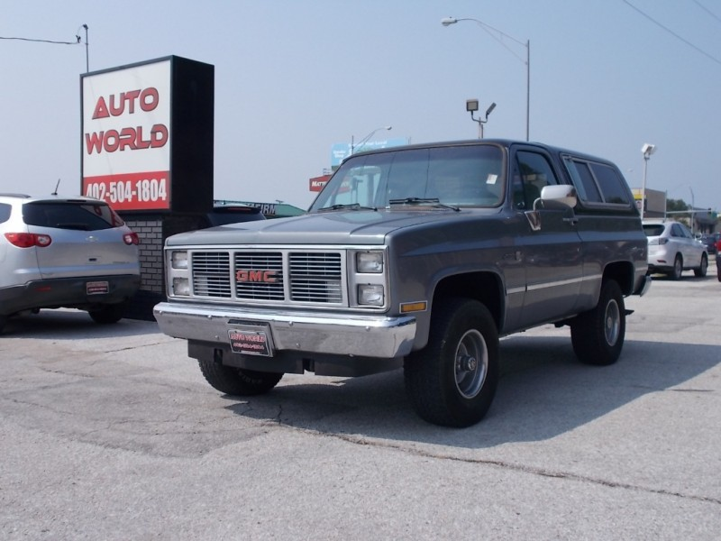 1986 Gmc K15 Jimmy Utility Wagon 4wd Inventory Auto