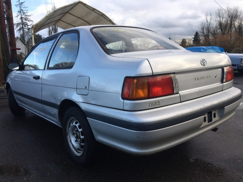 Toyota Tercel 1991 price Sunday Auction JAN 12th @11am