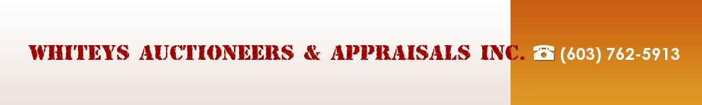 Whiteys Auctioneers & Appraisals Inc.. (800) 928-2846 border=