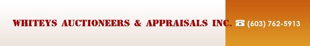 Whiteys Auctioneers & Appraisals Inc.. (800) 928-2846 border=