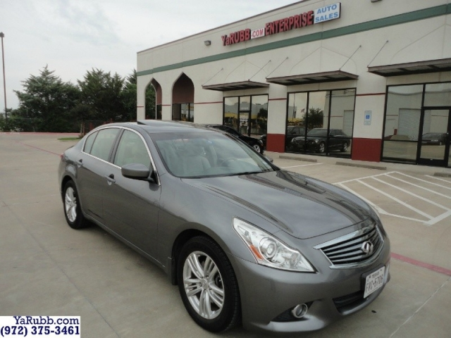 2012 Infiniti G37 Backup Cam Parking Sensors