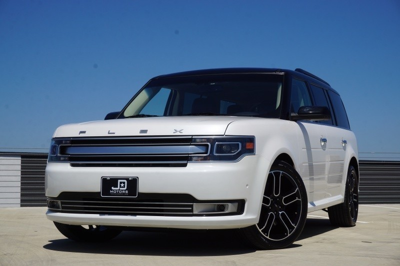 2013 ford flex limited awd w ecoboost 75650 miles white sedan a used ford flex. Black Bedroom Furniture Sets. Home Design Ideas