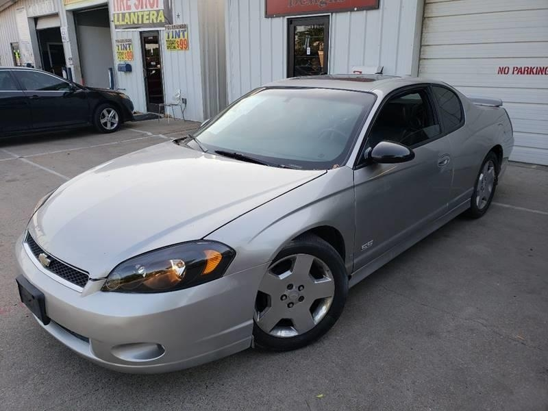 2006 Chevrolet Monte Carlo Ss 2dr Coupe 8995 Cash Ttl Dfw Auto Financing Llc Dealership In Dallas