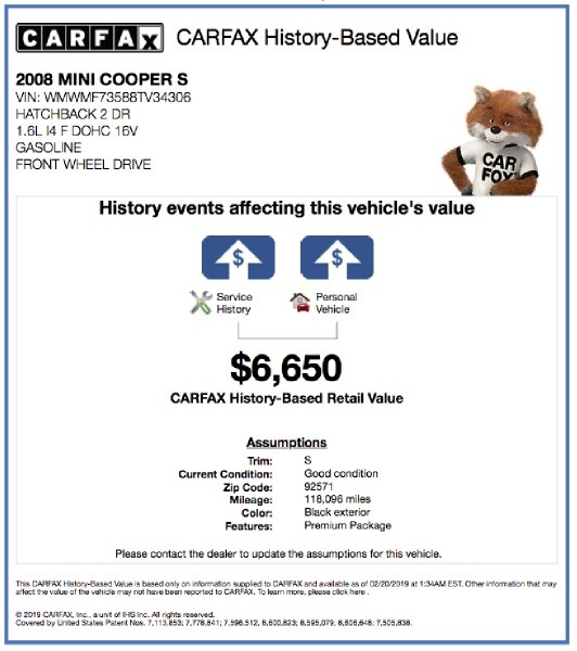 Mini Cooper Hardtop 2008 price $4,995