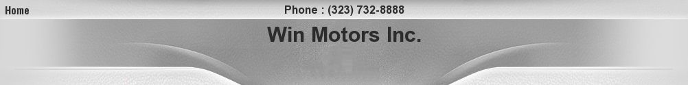 Win Motors Inc.. (323) 732-8888