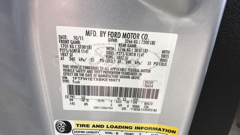 Ford F-150 2011 price $19,888