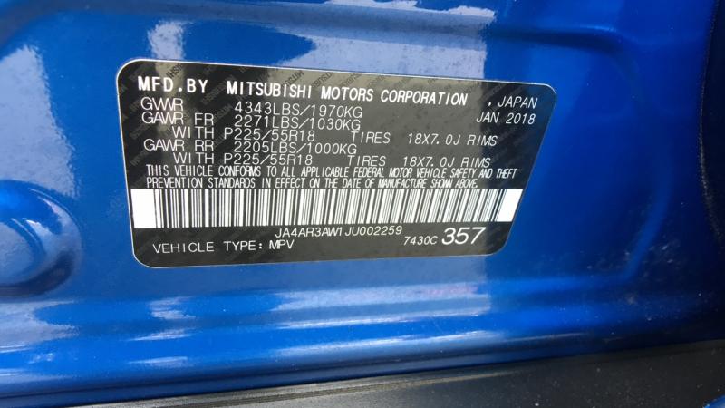 Mitsubishi Outlander Sport 2018 price $18,995