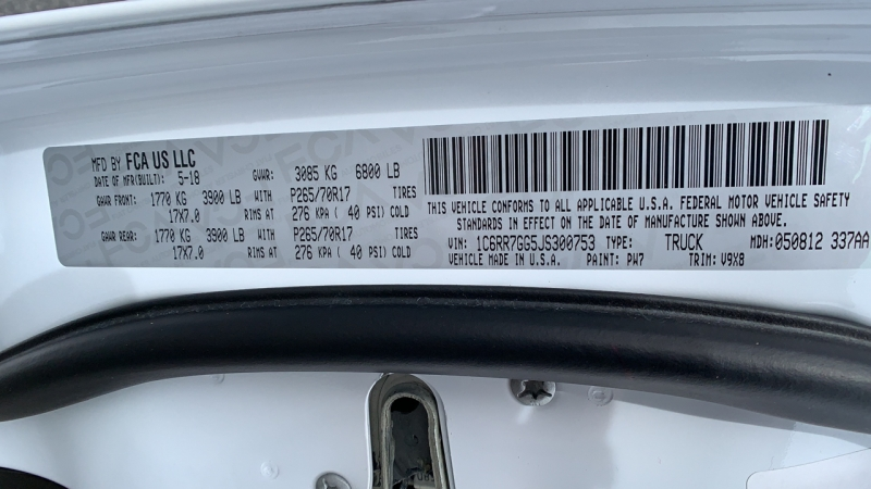 Ram 1500 2018 price $28,995
