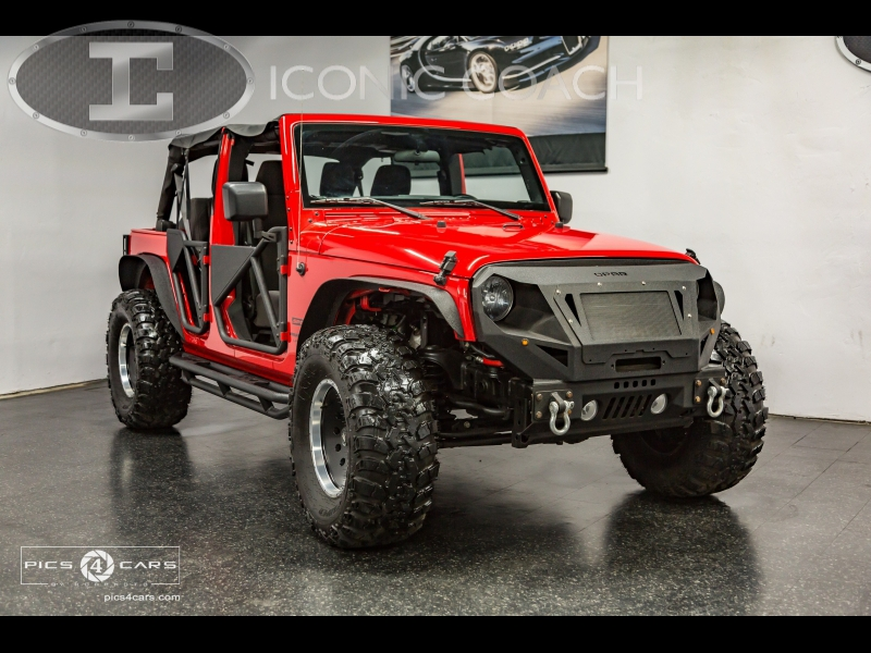 "24/"" x 36/"" Poster 2014 Jeep Wrangler Level Red 4x4"