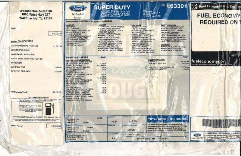 Ford Super Duty F-350 SRW 2017 price $56,990
