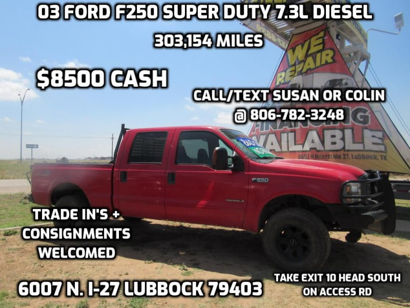 FORD F250 7.3L 2003 price $8,500