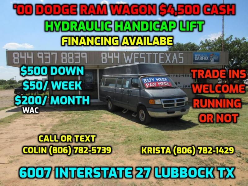 DODGE RAM WAGON 2000 price $3,500