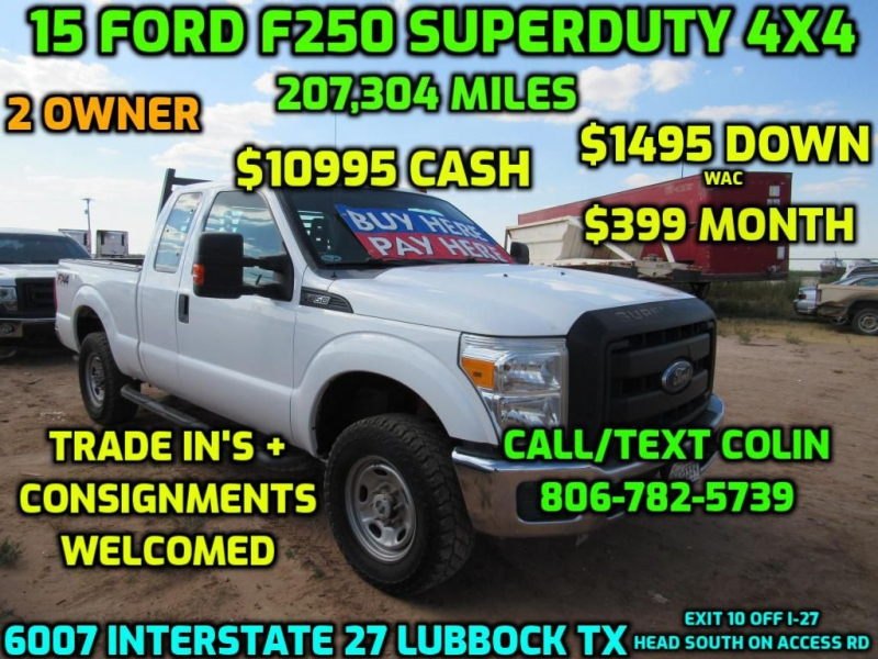 FORD F250 2015 price $11,995