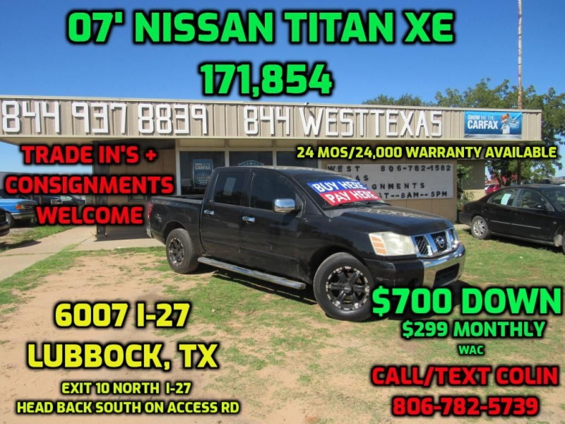 Car Dealerships In Lubbock Tx >> 2007 Nissan Titan Xe