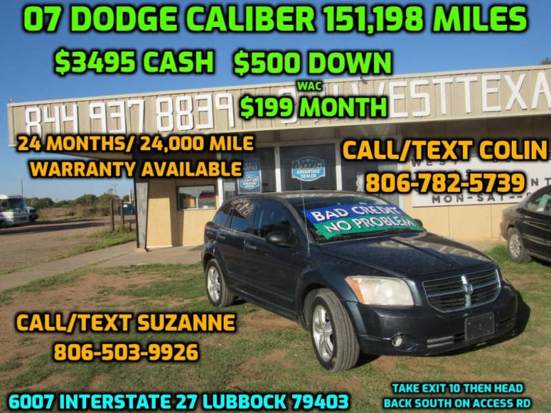 DODGE CALIBER 2007 price $3,495