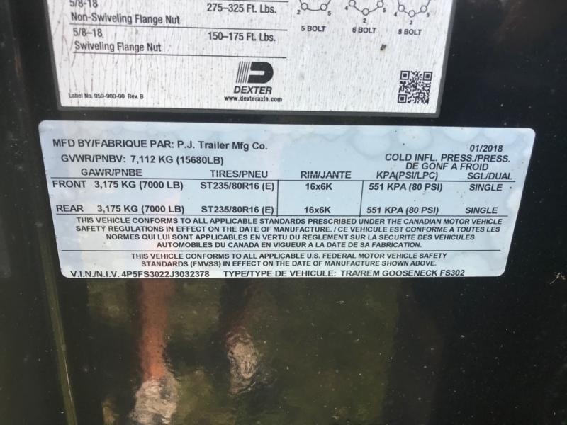 PJ TRAILER 30' GOOSE NECK 2018 price $7,750
